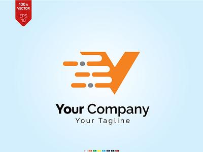 v letter logo, Letter V Logo Design