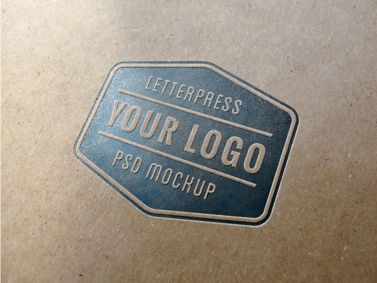 [Free] Letterpress  Mockup PSD