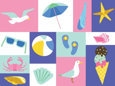 Summer Stationery Icons
