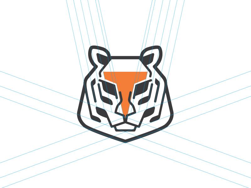 Tiger Systems Logomark 1 identity branding brand identity animallogo logo design animal tiger brand