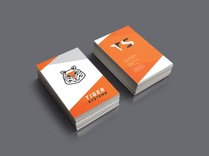 Tiger Systems Business Cards business card brand identity animallogo logo design animal tiger brand
