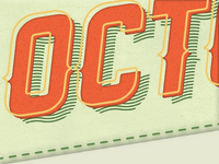 October Letterpress Header