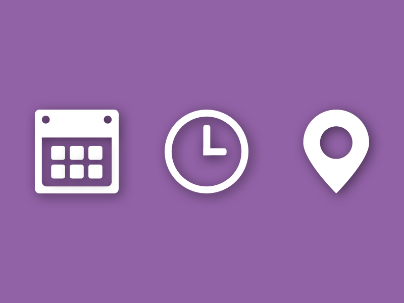 date  time  u0026 place by marcos espinosa on dribbble
