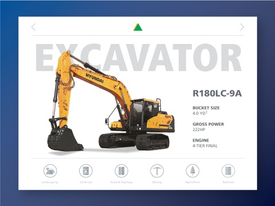 Hyundai Construction Product Module Concept v.2 heavy equipment iconography interface ui excavator construction equipment hyundai