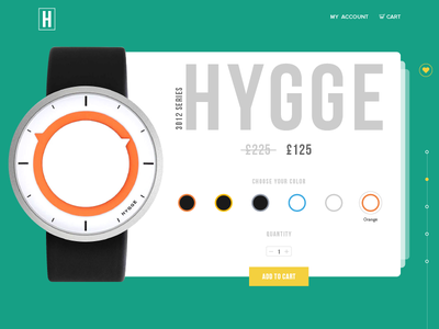 Ecommerce UI - Watch - Day 3 colors ecommerce time fashion webdesign web uxdesign uidesign ux ui watch