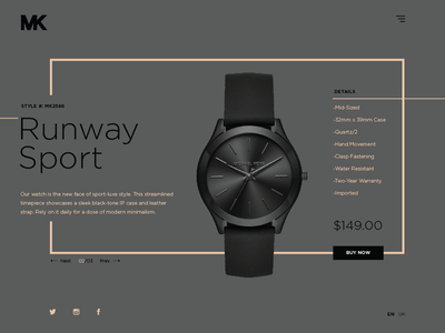 Ecommerce UI - Watch - Day 4 watch ui ux uidesign uxdesign web webdesign fashion time ecommerce
