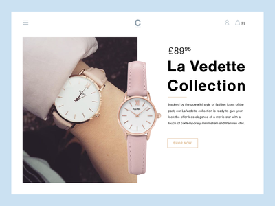 Ecommerce UI - Watch - Day 5 shop ecommerce time fashion webdesign web uxdesign uidesign ux ui watch