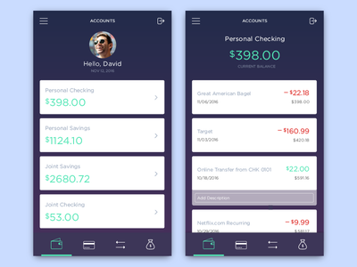 Mobile Banking Interface - 01 money app mobile finance banking user experience user interface ux ui