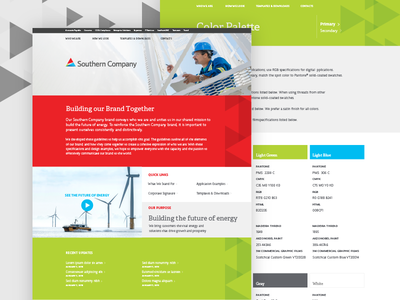 Southern Company Intranet ux design ui design internal communications intranet triangles colorful electricity georgia