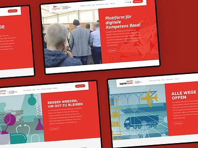 Handelskammer beider Basel home homepage basel website frontend development webdesign design typo3