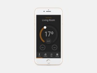 Dribble Daily UI 021 Home Monitoring Dashboard