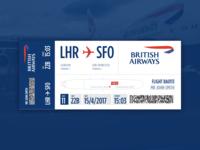 Dribble Daily UI 024 Boarding Pass