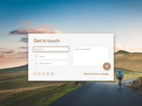 Dribble Daily UI 028 Contact