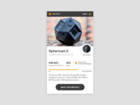 Dribble Daily UI 032 Crowdfunding Campaign
