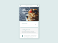 Dribble Daily UI 040 Recipe