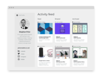 Dribble Daily UI 047 Activity Feed