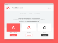Dribble Daily UI 051 Press Page