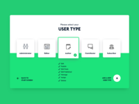 Dribble Daily UI 064 Select User Type