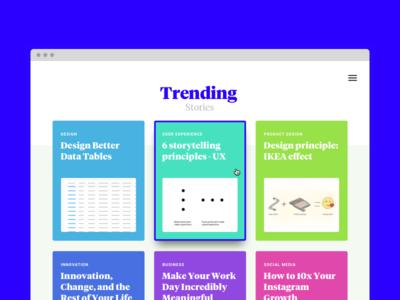 Dribble Daily UI #069 Trending Interface graphic design vector zeplin sketch responsive web design web design web user experience user interface dailyui uiux