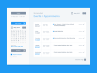 Dribble Daily UI 071 Schedule