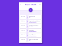 Dribble Daily UI 079 Itinerary