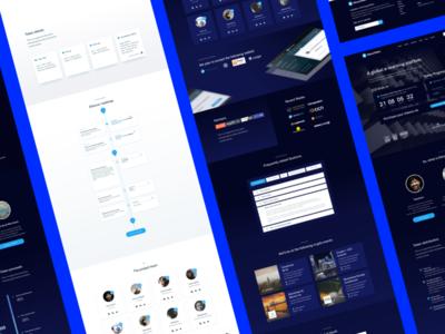 Educuo, ICO & Crypto Landing Page UI Kit ico market crypto currency coin market cap interface design sketch ui kit interface market coin ico ui crypto