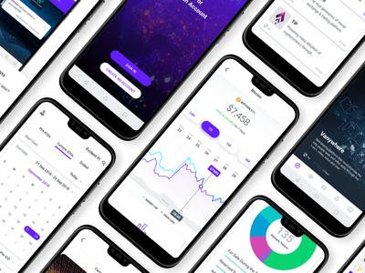 Lertme UI Kit ico market crypto currency coin market cap interface design sketch ui kit interface market coin ico ui crypto
