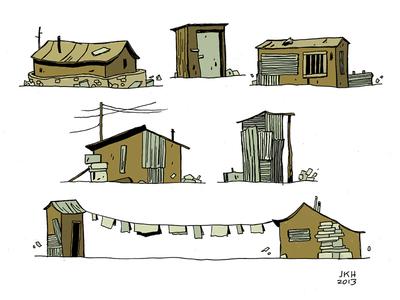 More Buildings in Kibera