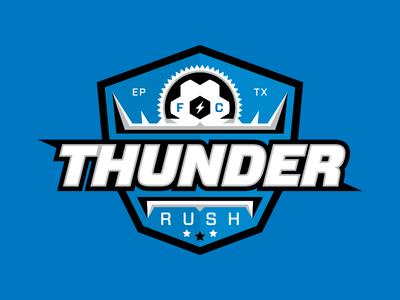 Thunder Soccer 01 electric energy shield texas sports ball blue rush thunder soccer