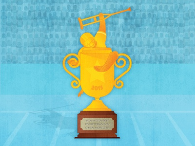 Huddlehive 01 sports gold award champion trophy injury american football fantasy