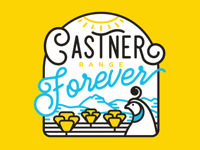 Castner Forever 01 el paso texas mountain script lineart logo quail poppies park state monument national