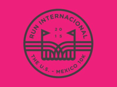 Run Internacional 01 river international texas mexico race run border bridge