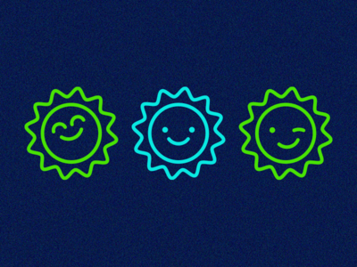 Sunnymojis 01 hot expression icon emoji bright day sun