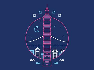 Taipei, Taiwan taipei taiwan illustration jayseejay
