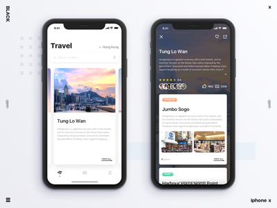 New Try Travel interface ui