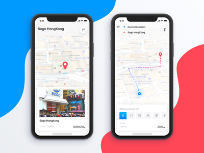 Travel  Map interface ui