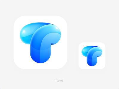 Travel Logo 3D icon