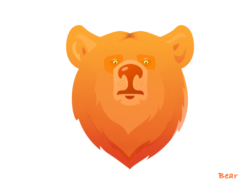 Brown bear bear illustration