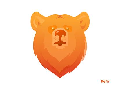 Brown bear bear illustration