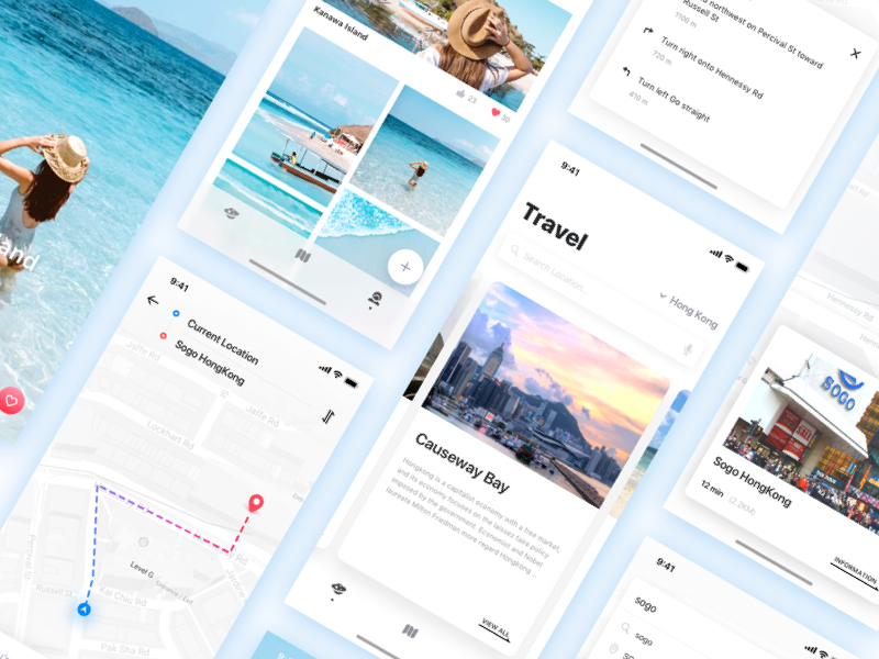 Travel - Project finishing interface ui
