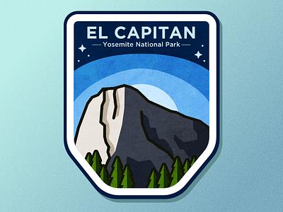 El Capitan mountain branding mark logo vector ui ux illustration badge