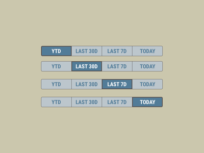Toggle buttons with time options toggle buttons timeframe