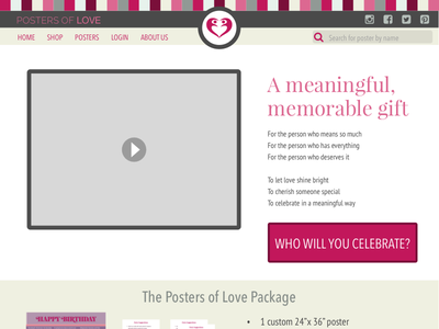 Posters Of Love HP product description marketing page