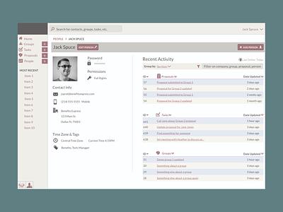 Profile Page color palette dashboard profile typography information architecture visual design