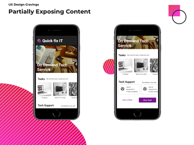 Partially Exposing Content hidden exposure design visual design product design ui ux
