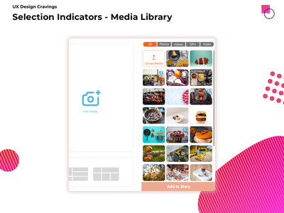 Selection Indicators indicator selection design ui ux