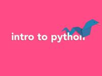 Intro to Python