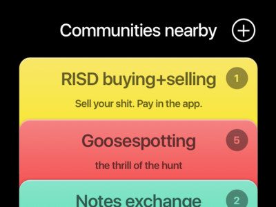Communities Nearby ios table list app passbook flat design has gone too far shadows not flat design cards