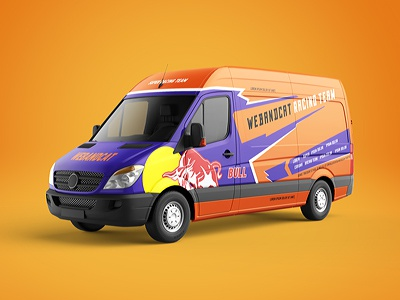 Van Mock-Up logo commercial vehicle van mockup van mock-up cargo car mockup car branding auto avto van