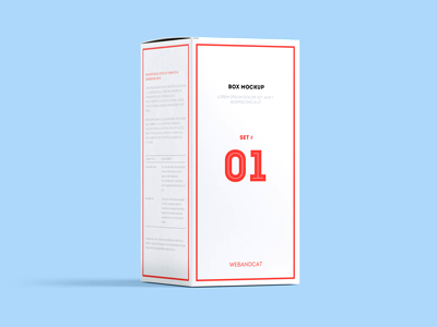 Package Box Mock-up, Set 1: Rectangle box cosmetic container product branding logo template psd mockup rectangle pack package box mockup